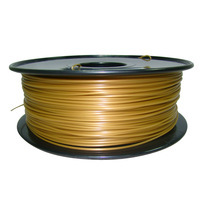 gold  color 3d printer filament PLA/ABS 1.75mm/3mm 1kg/2.2lb Plastics Consumables Suitable for MakerBot/RepRap/Cubify/UP