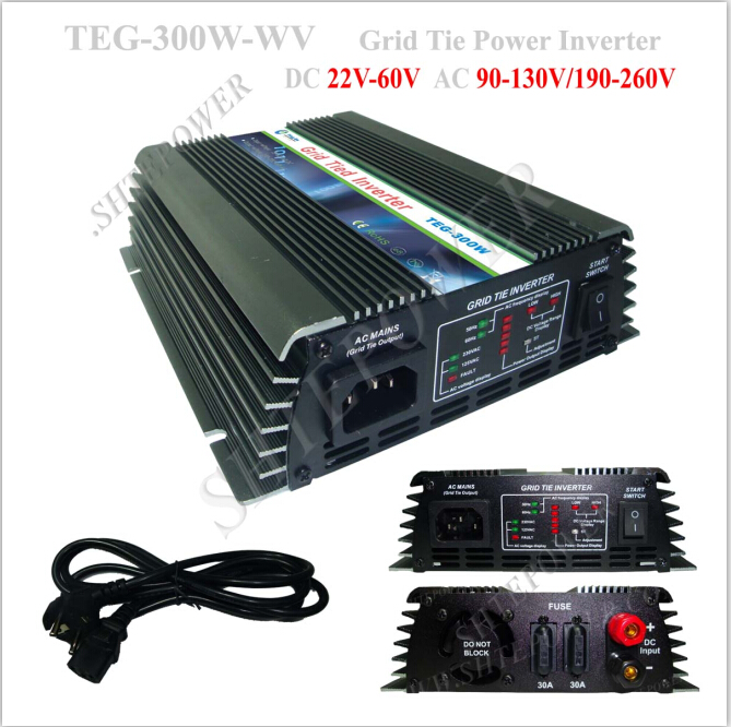 For home solar system pure sine 120v 300w grid tie micro solar inverter(China (Mainland))