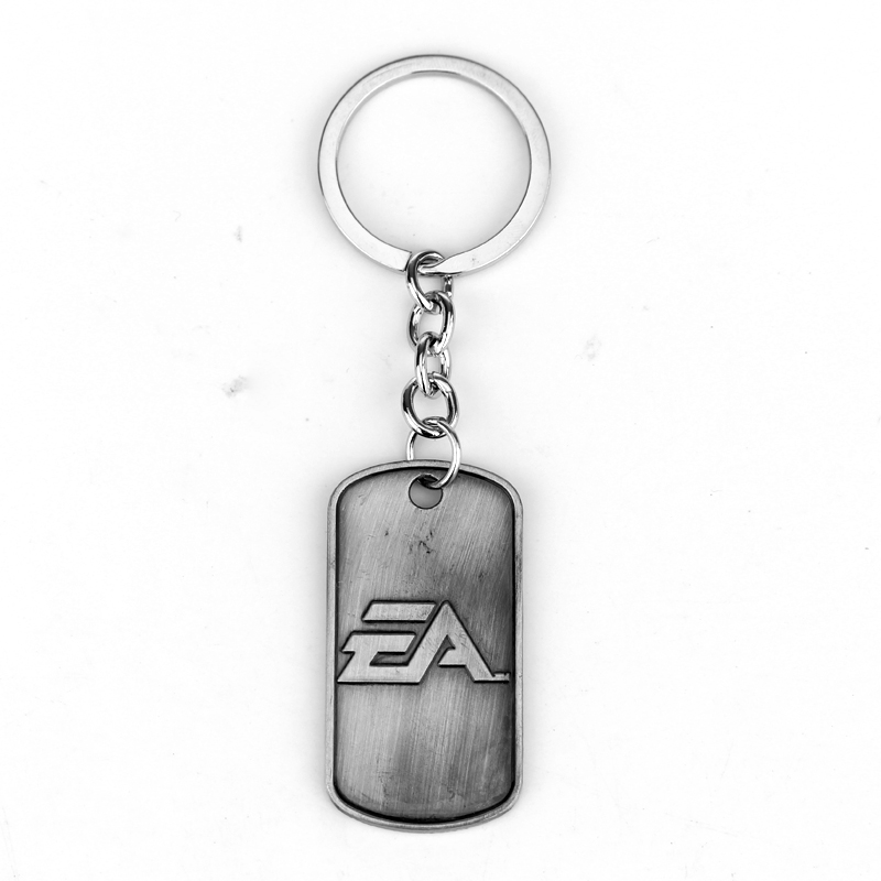 New Arrivals Fashion Jewelry Game Battlefield 4 Keychain Letter Logo Dog Tag Pendant Metal Alloy Keyring For Women And Men(China (Mainland))