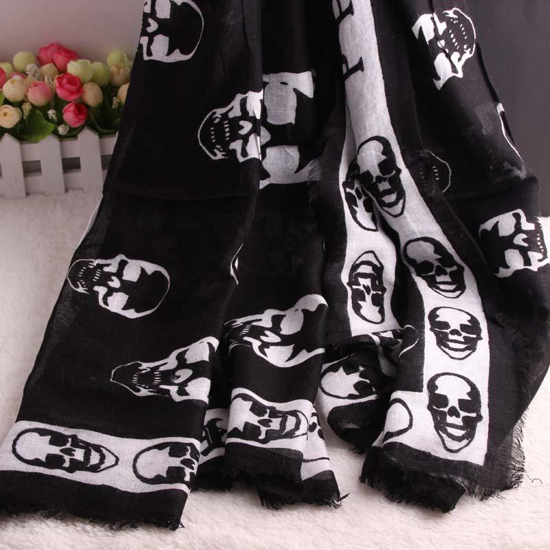 2015 High quality scarf women ladies shawl cotton skull scarf square scarf shawl(China (Mainland))
