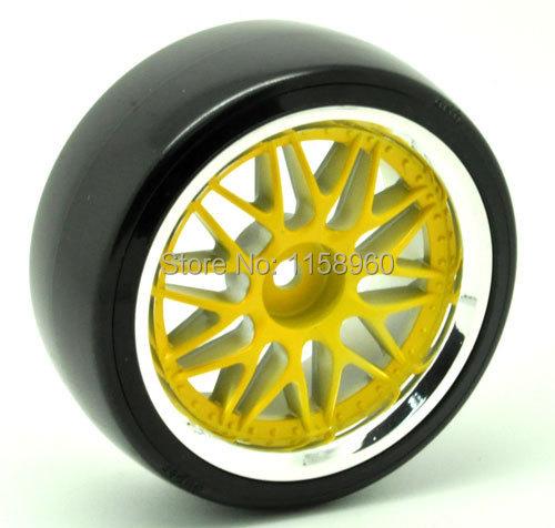 RC Plastic Hard Tires Drift Tyre Wheel Rim 1007-5003 Fit RC HSP HPI 1:10 On-Road Drift Car(China (Mainland))