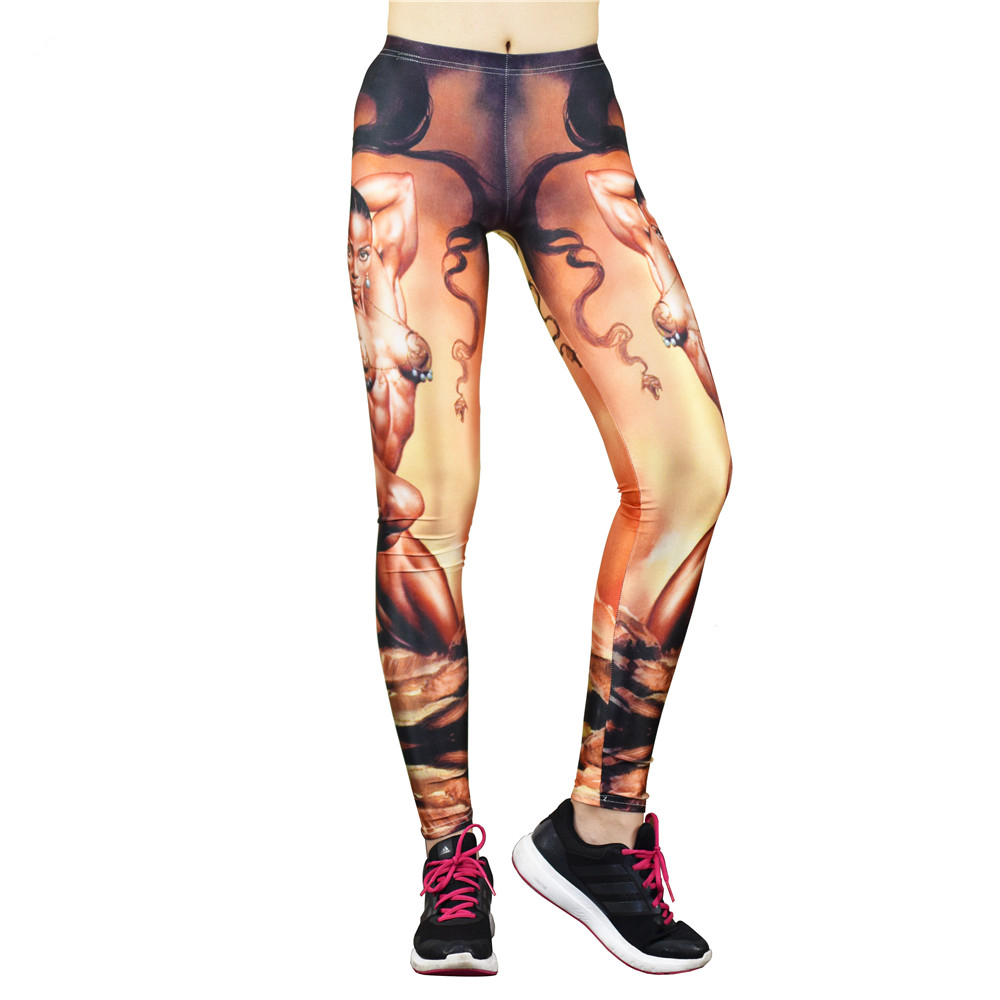 2016 New Muscle Girl Leggings Fitness Women Sport Gym Clothing Bodybuilding Slim Breathable Women Workout Pants Summer(China (Mainland))