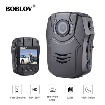 New BOBLOV 32GB/64GB HD 1296P Body Worn Camera Novatek 96658 Police Security IR Night Vision 32MP Video Fast charging Kamera