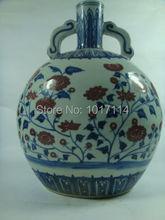 Details about Beautiful chinese antique Blue&white Underglaze red vase(China (Mainland))