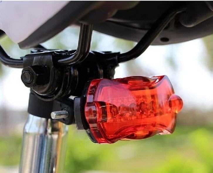1pc Drop shopping bicycle 5LED Bulbs Tubes Caution Light Bicycle Tail Warning Light(China (Mainland))