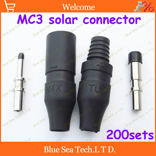 200sets=800pcs IP65 PV connector set MC3 solar connector male&amp;female+terminal kits for solar panel 2.5-6.0mm2 Free shipping<br><br>Aliexpress