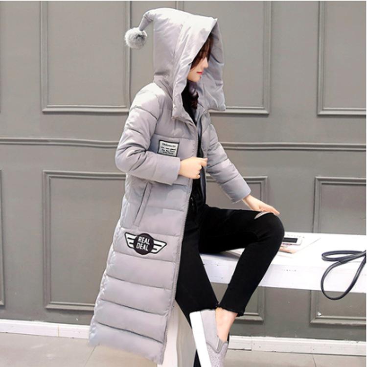 2016 Winter New Large Size Women's Coat Fashion Korean Version Magic Cap Printing was Thin Long Paragraph Parkas AXD1880(China (Mainland))