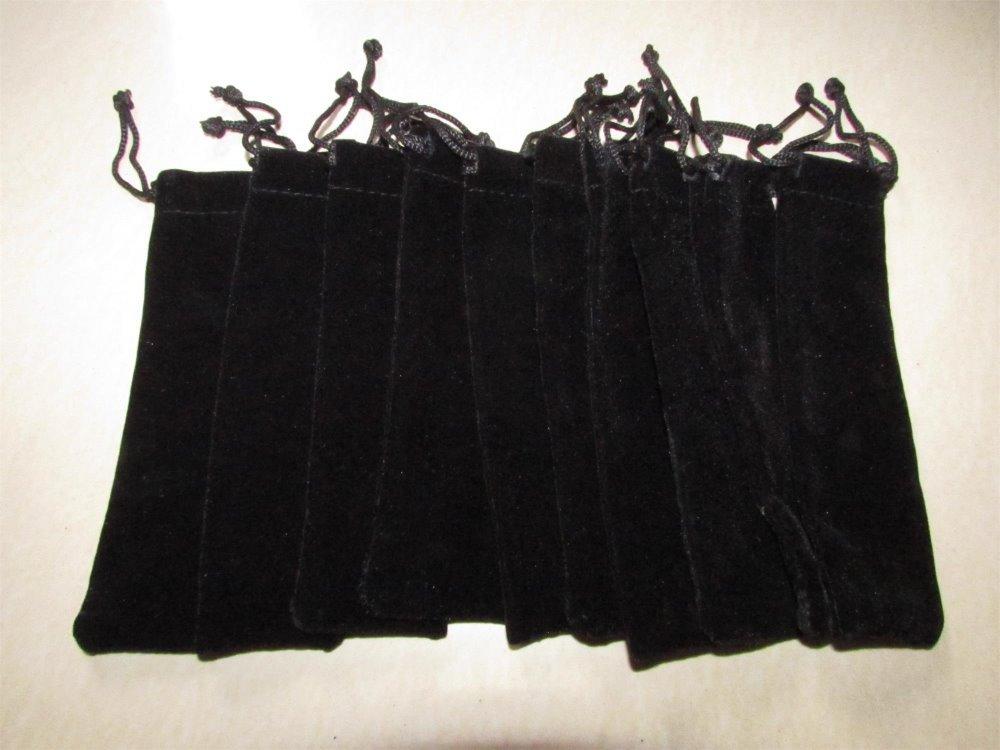 черный красный бархат перо мешок держатель