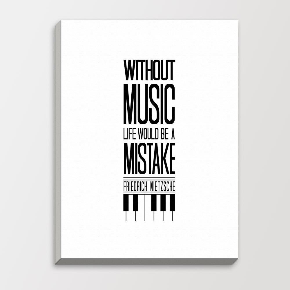 music black white modern inspirational quotes typography