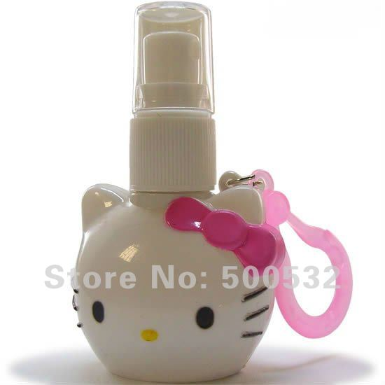 Free shipping 10 pcs/lot Wholesale Hello Kitty Perfume Bottle Mini bottle Women Plastic bottles Women Outdoor Perfume Bottle