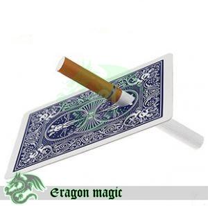 Cigarette thru card -Eragon magic tricks magia magie toys retail and wholesale(China (Mainland))