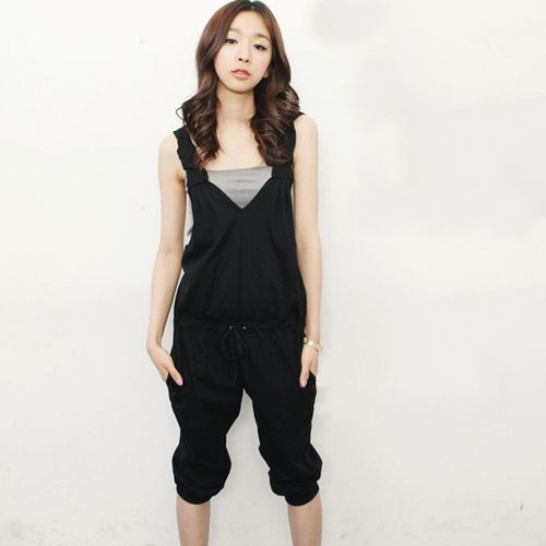 2014 New Women Jumpsuits shorts summer active sports casual woman overalls backless rompers cap lady bodycon black S,M,L - BIG SIZE GARMENTS store