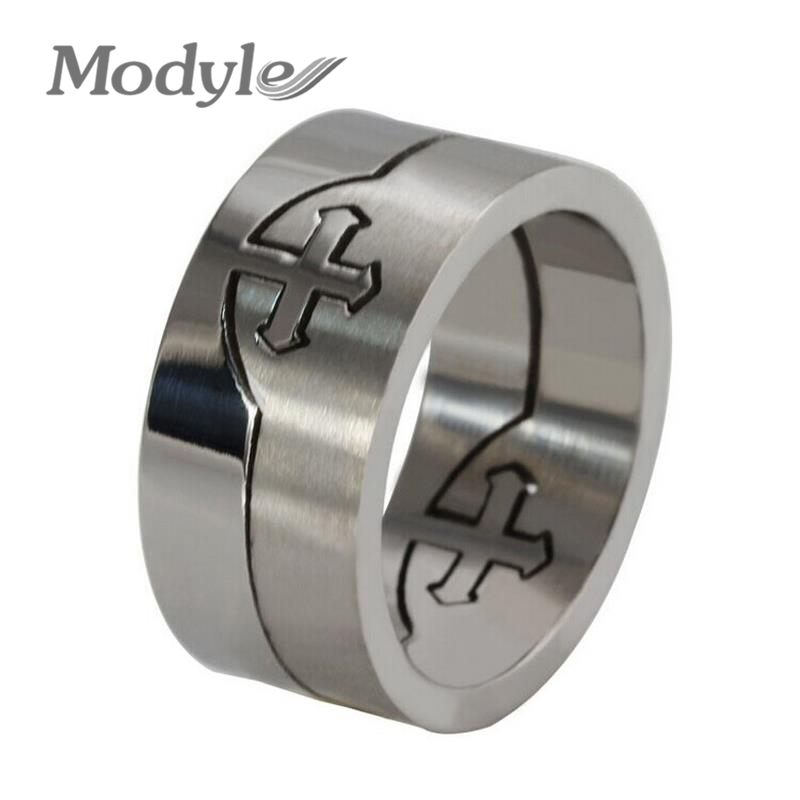 2016 Rock Punk Stainless Steel Cross Rings Cool Man Jewelry Accessories Best Valentines Gift For Men Male(China (Mainland))