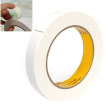 Special Offer High Quality White 18mm x 1mm x 5M Powerful Double Faced Adhesive Tape Foam Double Sided Tape(China (Mainland))