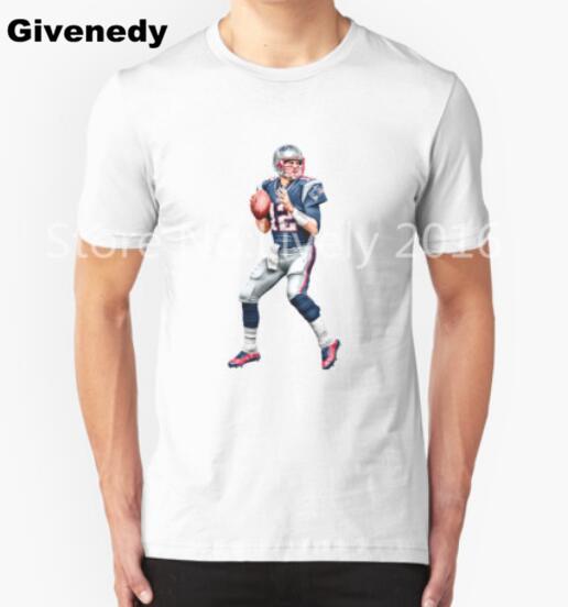 Tom BradyT Shirts Men California rugby player sport casual Man T-Shirt Short Sleeve Cotton Mens training t shirt Tops Tee Shirt(China (Mainland))