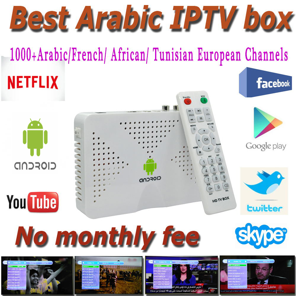 Android Quad Core TV Box With 2 Years 1000 Arabic French IPTV Account Live TV Kodi Preloaded Smart Tv Box Arabic Iptv Free(China (Mainland))
