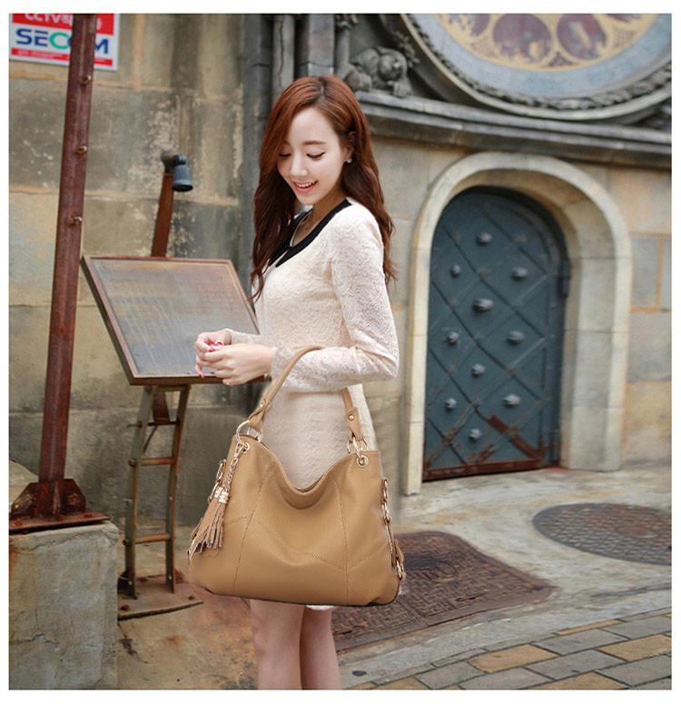 Hot Selling Fashion Women Bag Senior Cowskin Shoulder Bags Cross-bady Bag Brand Casual Tote Ladies Handbag Free Shipping 2016