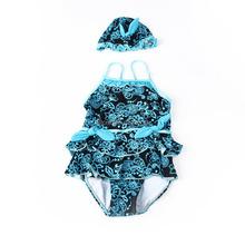 IMAKA Baby Swimsuit girls swimwear moda praia infantil Costume Tankini Swimwear Bathing Hat Cap For Girls