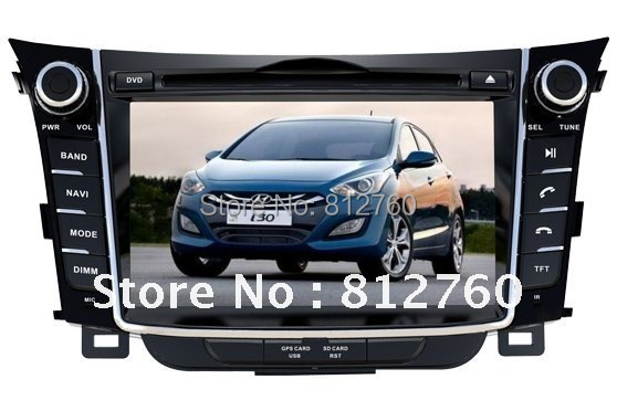 "2Din All in one 7""Car DVD Player GPS For Hyundai i30 2012 with TV Ipod RDS Radio Bluetooth Auto Stereo Free shipping"