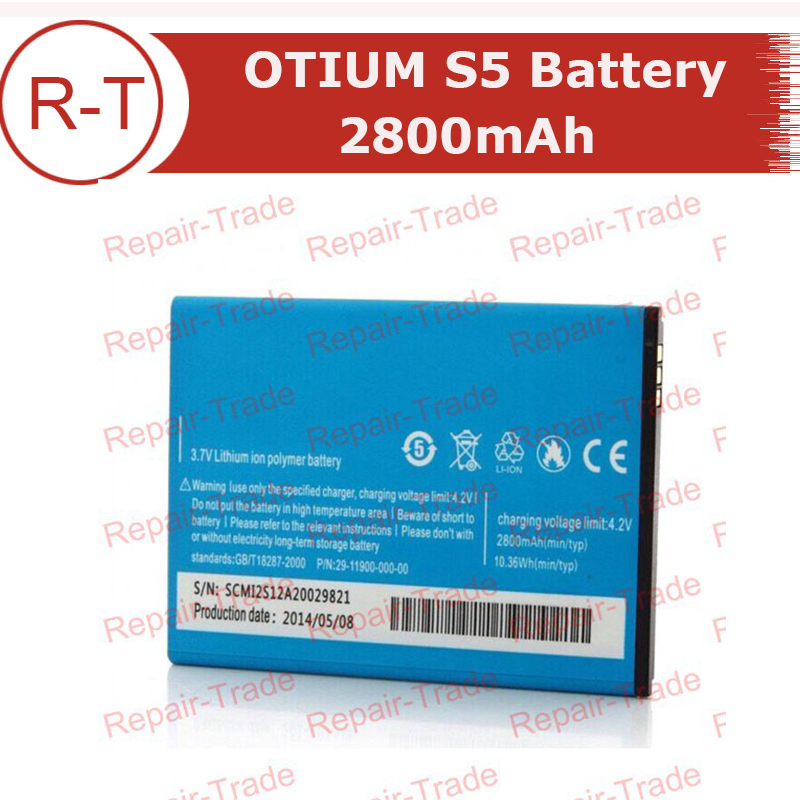 OTIUM S5 Battery Replacement 2800mAh Battery For OTIUM S5 MTK6582 854x480 Smartphone In Stock Free Shipping+Tracking Number