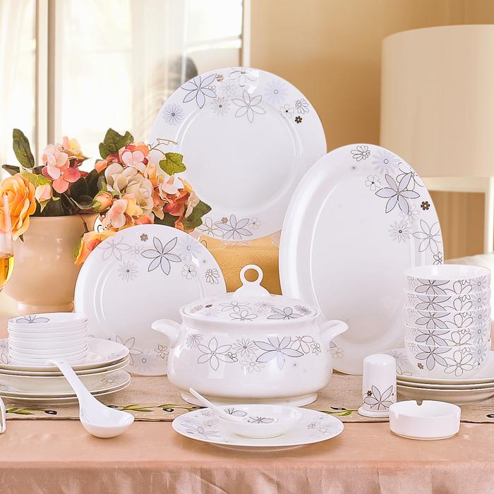 Ceramics 56 bone china tableware fashion dinnerware set dishes dish(China (Mainland))