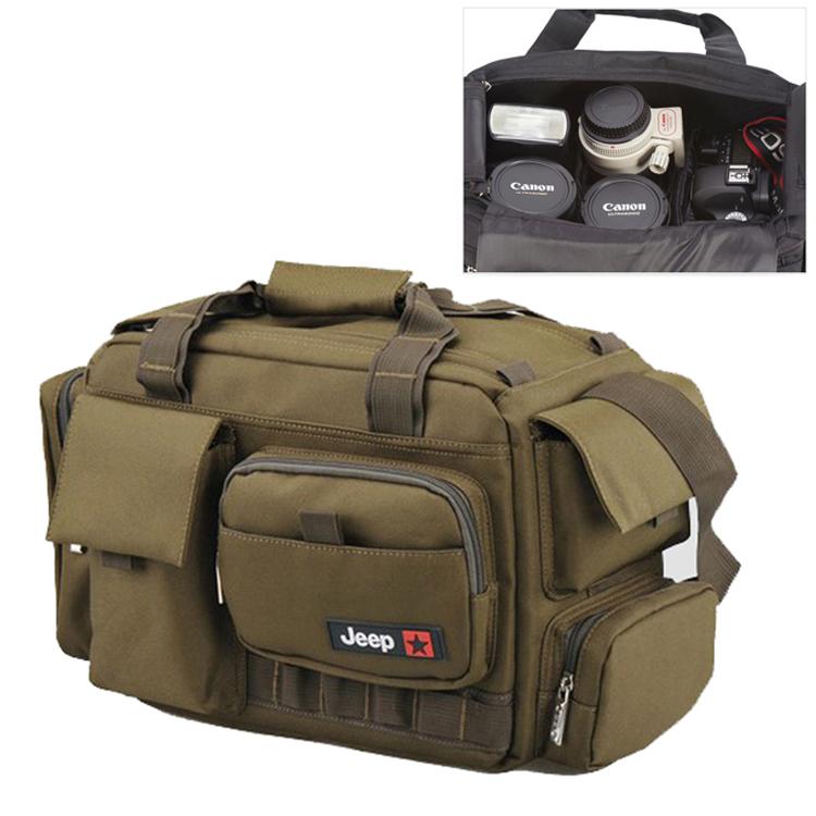 JEEP Large Waterproof Women Mens Camera Shoulder Carry Travel Case Bag Insert Fit 1 DSLR + 4 Lens + 1 Flash Canon Nikon Pentax(China (Mainland))