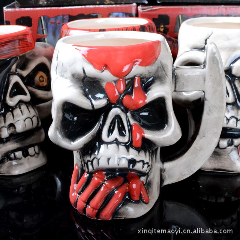 Skull Pirate Mug Ceramics Coffee Tea Cup Creative Articles of Daily Use Water Mugs(China (Mainland))