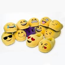 Emoji Slippers Cartoon Plush Slipper Home With The Full Expression  Women Slippers Winter House Shoes(China (Mainland))