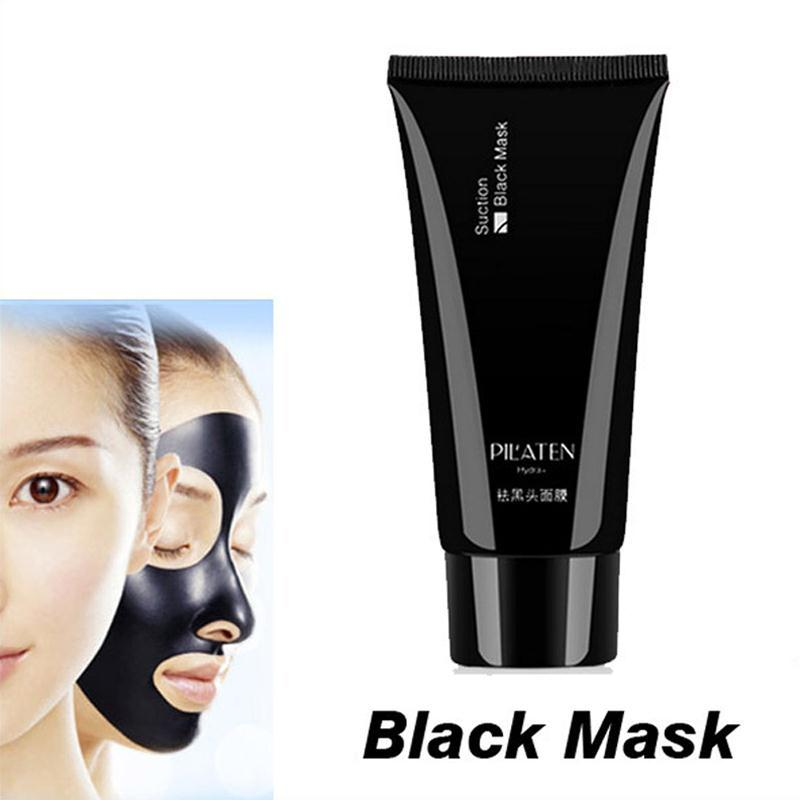 1 PILATEN blackhead remover Tearing style Deep Cleansing Black head acne treatment black mud face mask 60g - fang sun's store