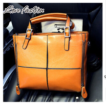 2015 European PU Leather Women's Handbag Patchwork Designer Brand High Quality Ladies' Office Shoulder Bags Women Crossbody Bags