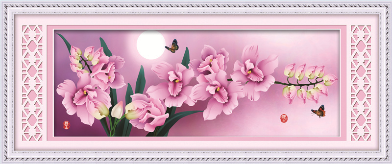 97*39 butterfly flower picture home decoration crafts diamond embroidery 3d 5d diy diamond painting dmc cross stitch needle 6218(China (Mainland))