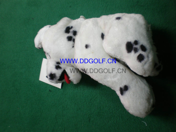 460cc spotty dog new design driver golf headcover golf club headcover(China (Mainland))