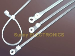 """7.87""""(200mm)  Mountable Head Cable Tie 40 lbs White  Zip 500PCS  wire tie"""