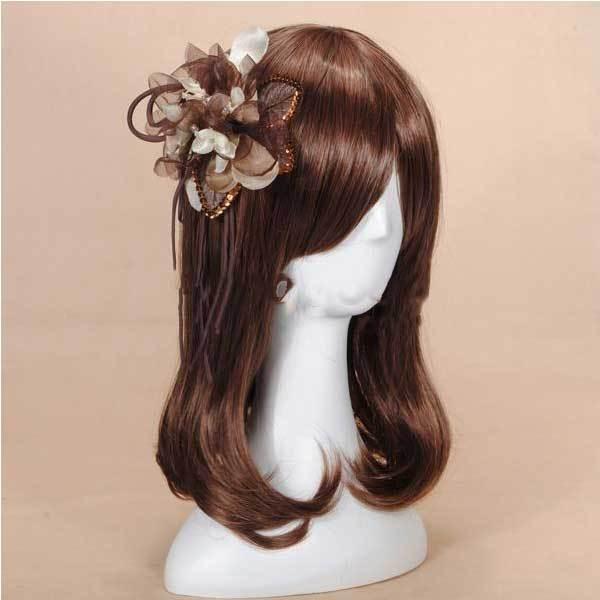 Caldwell Sequins Ribbon Flower Headpiece Fascinator Brooch Hair Clip(China (Mainland))