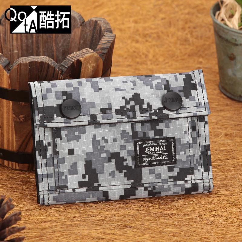 Personalized sports Camouflage the trend canvas small wallet male casual cloth short design bags<br><br>Aliexpress