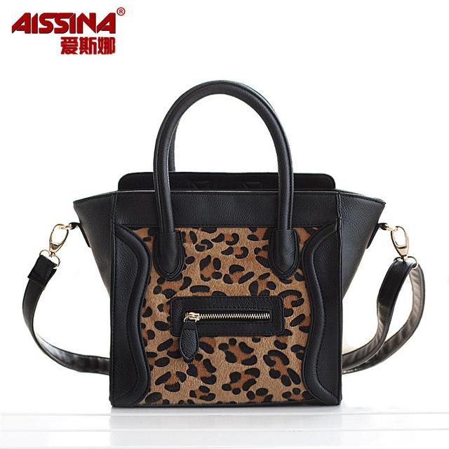 Bags 2012 women's bag fashion smiley bag leopard print horsehair handbag shoulder bag