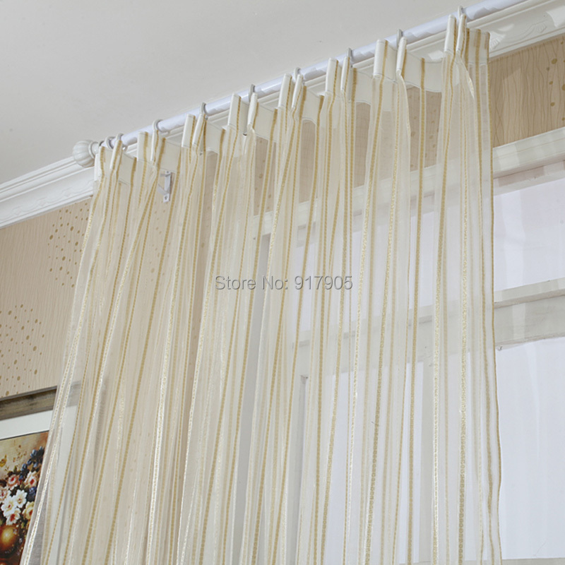 Luxury Modern Volie Sheer Tulle Curtains For Living Room