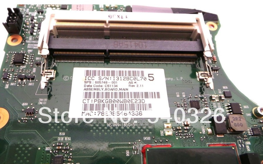 FOR of 605747-001 CQ320 motherboard tested with good quality china market of electronic computer components   Free shipping<br><br>Aliexpress