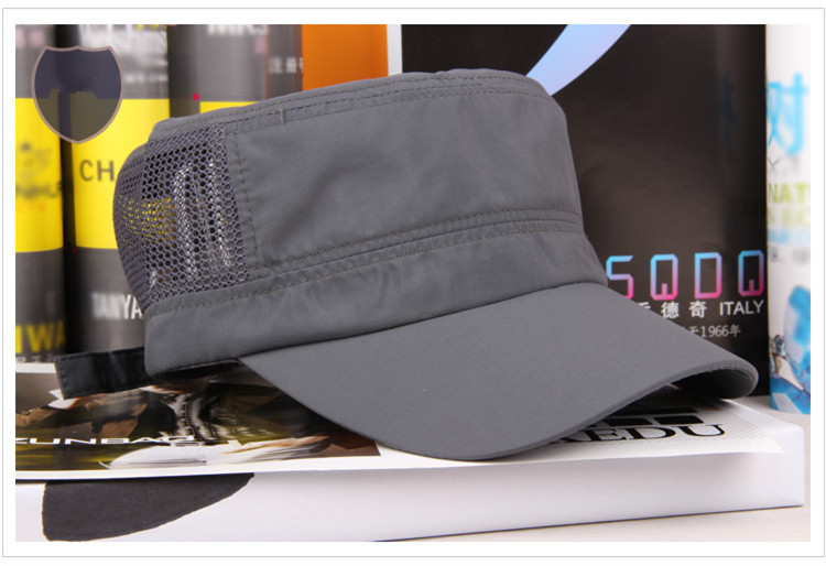Hot Fashion Summer Adjustable Classic Grey Plain Vintage Hat Cadet Military Cap - sincerity forever's store