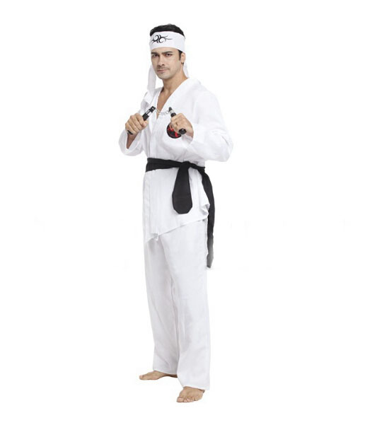 Halloween cosplay costume costume party stage performance Karate uniform costumes(China (Mainland))