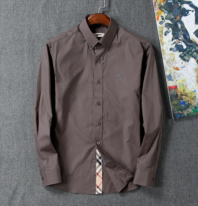 Solid casual 2015 no iron long sleeved plaid shirt men 100 for Mens no iron dress shirts