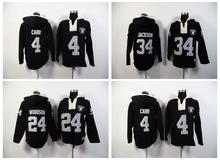 100% Stitiched,Oakland Raiders Derek Carr Marcus Allen Bo Jackson Charles Woodson Sweater hoodies(China (Mainland))