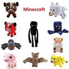 New Minecraft Plush Doll Toys Enderman Ocelot Pig Sheep Bat Mooshroom Squid Spider Wolf Animal Soft Stuffed Dolls Kids Toy Gift(China (Mainland))