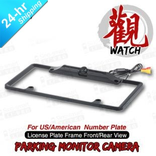 HD CCD Universal Parking Rearview Reverse Camera for US American Number Plate Night Vision Waterproof Black(Hong Kong)