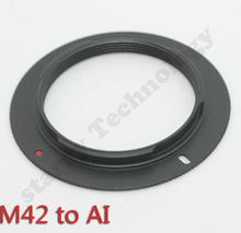 Buy M42 Lens AI mount adapter ring NIKON D7000 D90 D80 D5000 D3000 D3100 D3X D7100 D3100 for $1.22 in AliExpress store