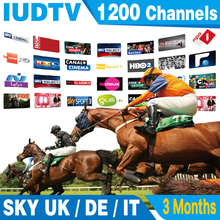3 Months Arabic IPTV Europe Iptv SKY Italy UK Portugal Indian USA Spanish Netherland Sweden VOD with 3 AV cable free shipping