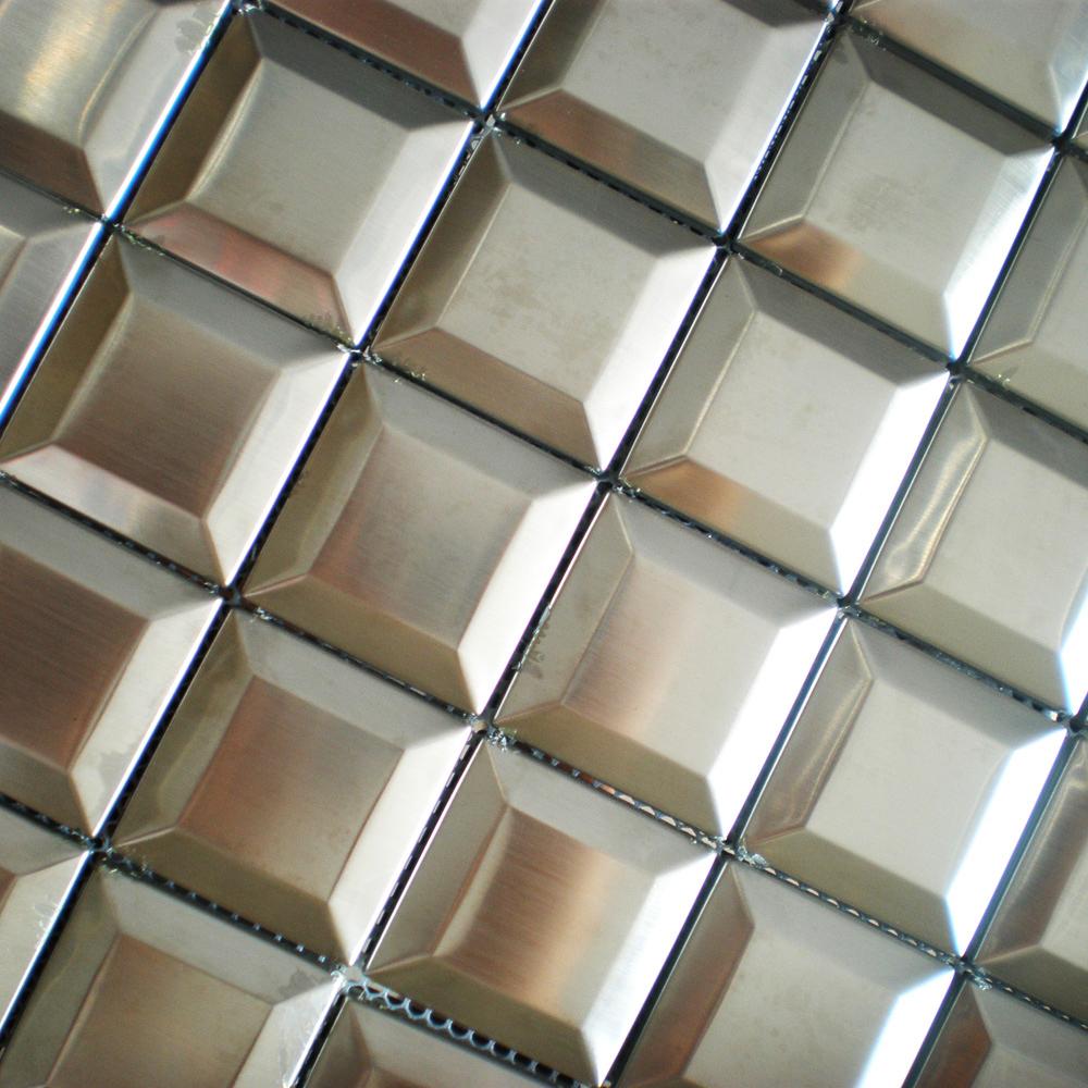 Mosaic tiles stainless steel silver tile backsplash 3d pattern wall tiles kitchen bathroom wall decorative bar hotel mosaic 11SF<br><br>Aliexpress