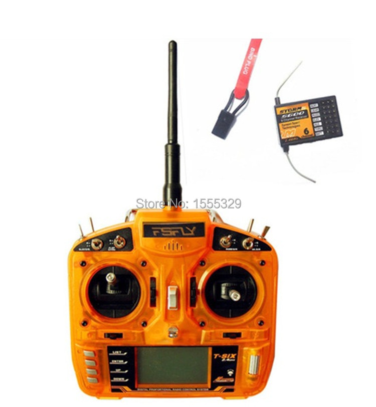 FSFLY 2.4GHz 6 CH Transmitter,Radio with S600 Receiver Surpass DX6i JR FUTABA for Helicopters,Airplanes,Quadcopters(China (Mainland))