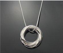 Бесплатная доставка ожерелье способа, 925 серебряных ювелирных изделий ожерелья. ювелирные изделия ожерелье. серебряное ожерелье. оптовая цена! RM04(China (Mainland))