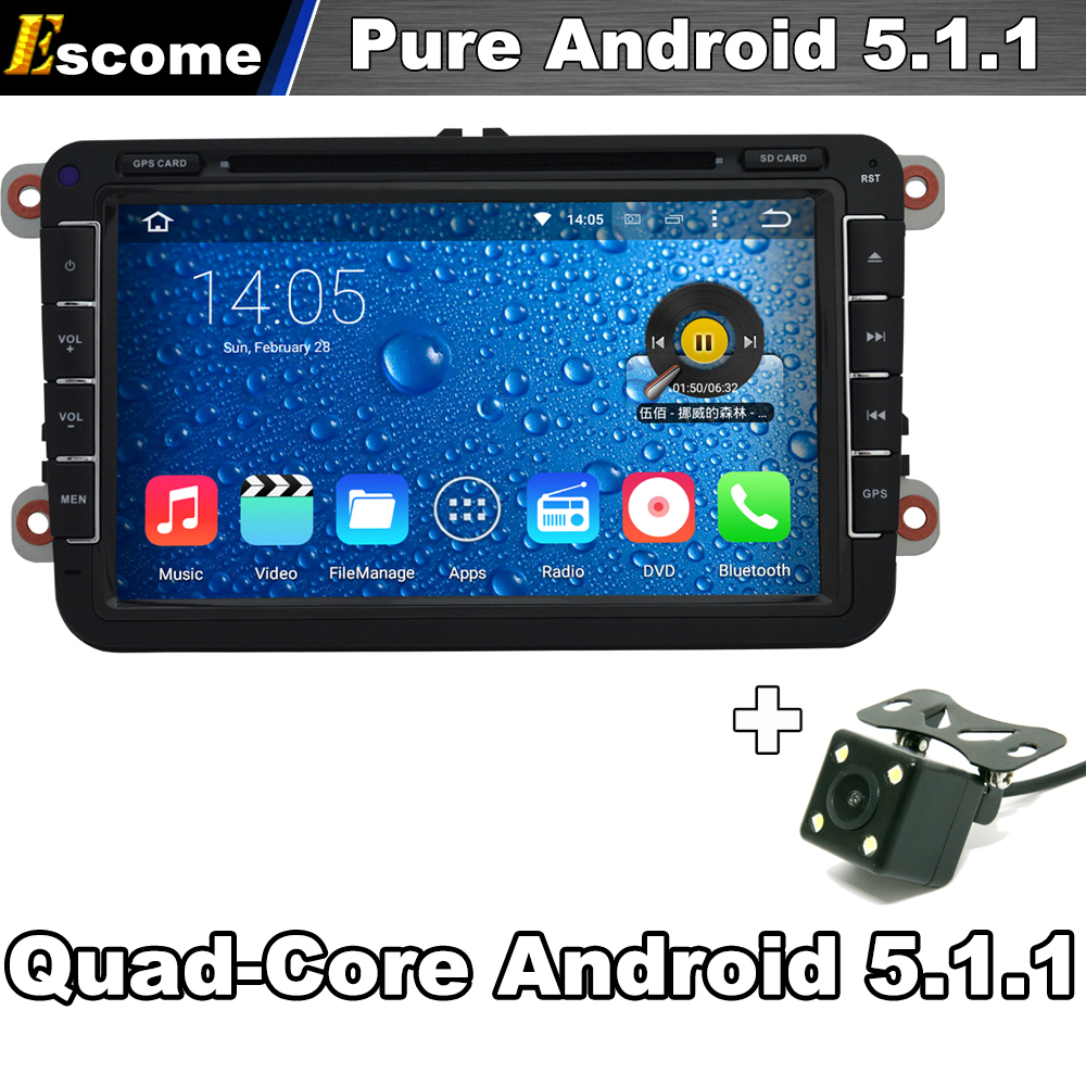 Pure Android 5.1 Car DVD GPS for Volkswagen VW Tiguan Touran Caddy Amarok Golf EOS Beetle Magotan Bora Passat Rear View Camera(China (Mainland))
